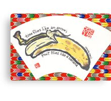 Bananas on a Fan Canvas Print