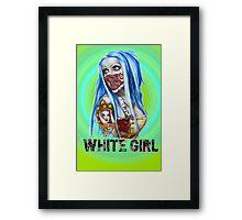 White Girl Framed Print