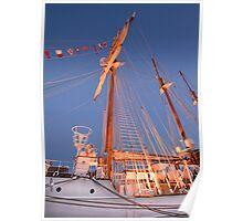 JS DE ELCANO . Spanish Tall Ship. Lisbon Poster