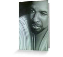 Notable actor Denzel Washington Greeting Card