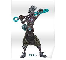 The time machine Ekko V2 png version Poster