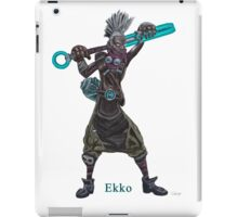 The time machine Ekko V2 png version iPad Case/Skin