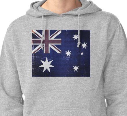 Vintage Australia Flag Pullover Hoodie