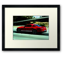 Mustang Pure Speed Framed Print