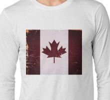 Vintage Canada Flag Long Sleeve T-Shirt