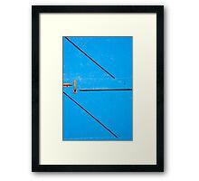 Vineyard Blue Door Framed Print