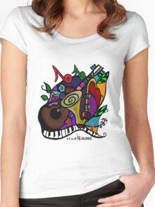 "s t u d i o  BURKE ""Jazzy T"" Women's Fitted Scoop T-Shirt"