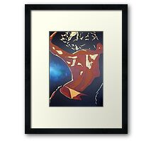Backview of A Young Woman Dancing In A Night Club Framed Print