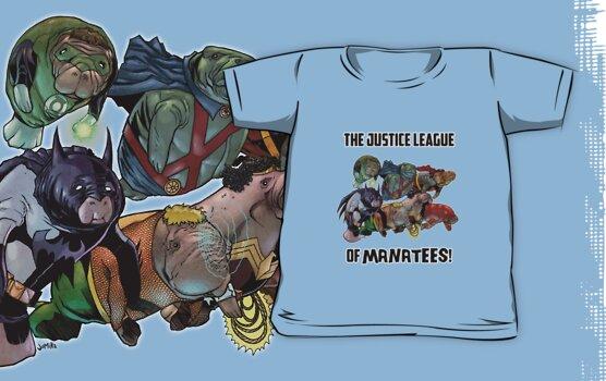 Justice League of Manatees SALE! by jomiha