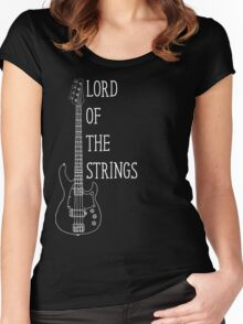 Lord Of The Strings Electric Guitar T Shirt Women's Fitted Scoop T-Shirt