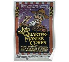 Keep the stars shining for Uncle Sam Join the Quartermaster Corps Poster