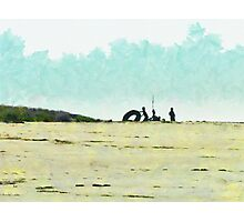 All you need is a camp and a big rubber ring Photographic Print