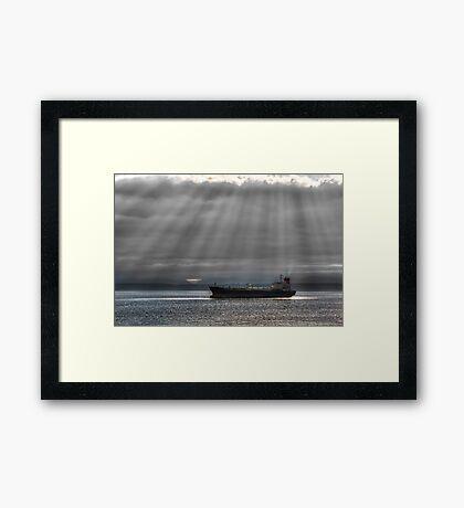 Sun Rays over Elliott Bay Framed Print