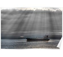 Sun Rays over Elliott Bay Poster