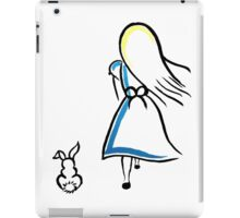 Alice and the White Rabbit iPad Case/Skin