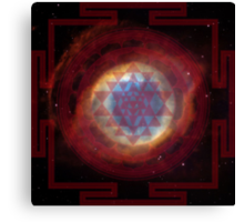 The Eye of God Yantra Canvas Print