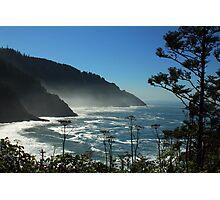 Misty Coast at Heceta Head Photographic Print