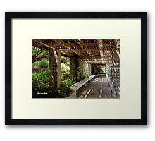 Pergola Inside the Garden Wall Framed Print