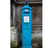 City Of London Blue Police public call  box Photographic Print