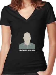 I AM the danger Women's Fitted V-Neck T-Shirt