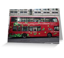 Eco Green London Bus Greeting Card