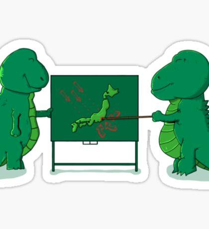 Godzilla's plan Sticker