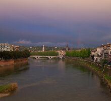 The River Adige, Verona Italy by Cliff Williams