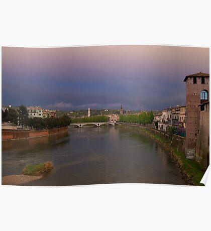 The River Adige, Verona Italy Poster