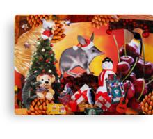 Aussie Christmas Collage Canvas Print