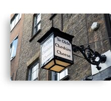 Ye Olde Cheshire Cheese wall lamp in Fleet Street London Canvas Print