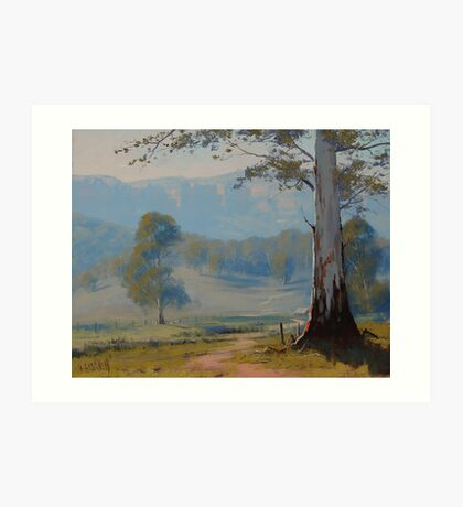 Valley Gum Tree Art Print