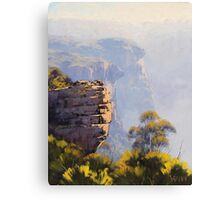 Misty Cliffs Katoomba Canvas Print