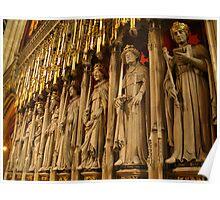Choir Screen, York Minster Poster