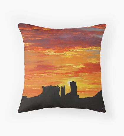 Canyon Sunset Monument Valley Throw Pillow