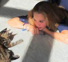 Cat Contemplation by Karen  Securius