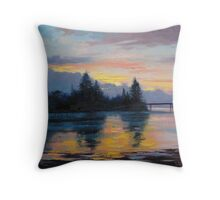 The Entrance Sunset  Throw Pillow