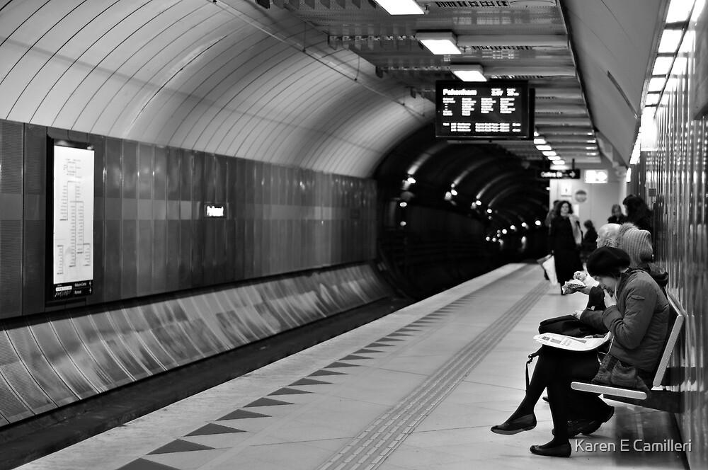 waiting underground  by Karen E Camilleri