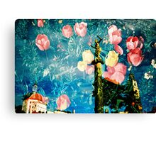 portmeirion in bloom Canvas Print