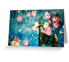 portmeirion in bloom Greeting Card