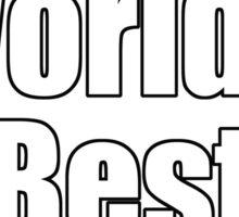Ironic Tee - Voted World's Best T-Shirt Sticker