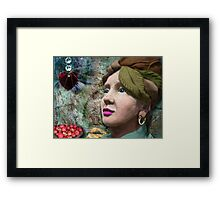 the red heart of a stone lady Framed Print