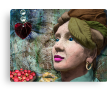 the red heart of a stone lady Canvas Print