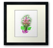 Like a lotus flower petal pink mini polka dots Framed Print