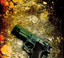 Handgun by Sharonroseart
