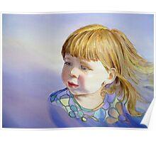 Rainbow Breeze - Girl's Portrait Poster