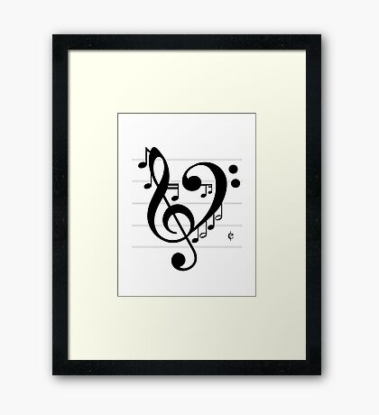Love Music II Framed Print