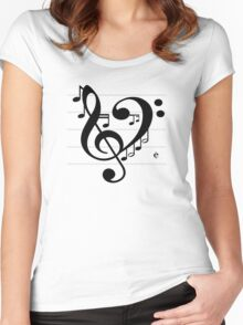 Love Music II Women's Fitted Scoop T-Shirt