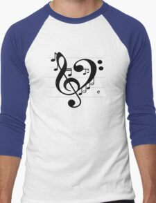 Love Music II Men's Baseball ¾ T-Shirt