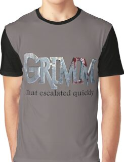 GRIMM in 3 Words Graphic T-Shirt