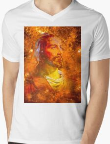 Jesus  Mens V-Neck T-Shirt